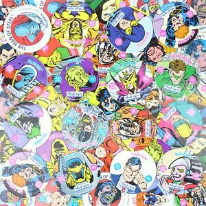 Lot of 25 Pogs from 1993 DC Comics By SkyCaps Skybox Superman & Others