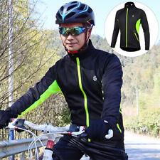 Cycling Jacket Windstopper Winter Thermal Fleece Top Long Sleeve Bike Coat Men