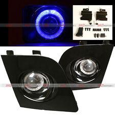 BLUE HALO LED DRL BLACK BEZEL FOG LAMP LIGHTS FITS 06 07 SUBARU IMPREZA WRX STI