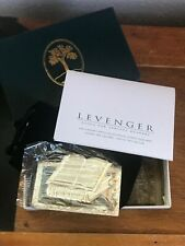 Estate Levenger Open Book Rectangular Sterling SIlver Made in Mexico Bookmark