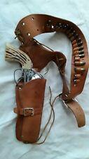 Vtg Mattel Fanner 50 Diecast Toy Cap Gun Pistol w/Leather Belt Holster&Bullets
