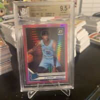 2019-20 Donruss Optic Ja Morant Rated RC Hyper Pink Prizm BGS 9.5 TRUE GEM MINT