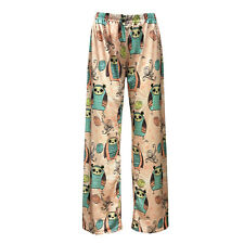Women's Cute Owl Tweety Cartoonish Comic Funky Pattern Pyjama Pant Animal Lover