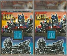2 Packs Of 8 Transformers Birthday Invitations NOS W/Thank You Cards Let's Party