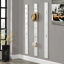 [en.casa]® Guardaroba 170cm bianco gancio parete appendiabiti corridoio ingresso