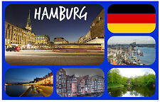 HAMBURG, GERMANY - SOUVENIR NOVELTY FRIDGE MAGNET - NEW - GIFT / XMAS