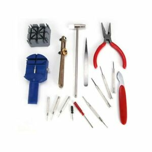 16PC Deluxe Watch Repair Tool Kit Pin Strap Link Remover Screwdriver Opener