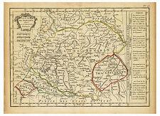 Hungary Budapest Debrecen Slovenia Croatia Romania map Lattre Delamarche ca.1800
