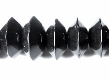 Glass Beads - Rondelle - Opaque Black - 10mm x 6mm/1mm hole - Pack of 50