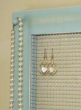 Large gray jade hanging jewelry organizer bracelet, earring, key rack