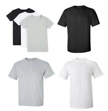 Men's Heavy Premium Cotton Plain Blank T-shirt Basic Tee White Black Grey New