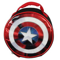 Marvel Captain America Shield Shiny Insulated Lunch Box Bag Tote