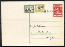 Curacao covers 1935 Ship PC per MS COLOMBIA Baranquilla to Berlin