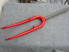 Tenedor MTB 26 inch 270MM Rígido Fork Rojo 1 1/8 Ahead Pivots No Roscada Nuevo