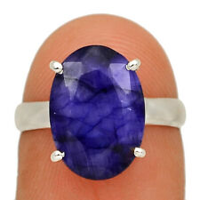 Sapphire 925 Sterling Silver Jewelry Ring s.7 AR166574