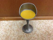 Barbie Doll Bratz House Modern Retro Chair Yellow Bar Stool Kitchen Furniture