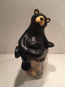 "Rare Big Sky Carvers Jeff Fleming Bearfoots ""Shelf Sitter Black Bear Figurine"