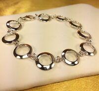 """925 Sterling Silver 7.5"""" Link Bracelet Fine Jewelry"""