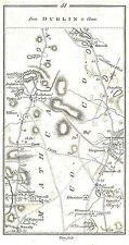 Antique map, Road from Navan to Clones