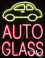 "Brand New ""Auto Glass"" 31x24 W/Logo Real Neon Sign w/Custom Options 10441"