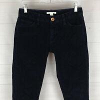 Banana Republic womens 26 x 33 stretch dark navy blue skinny slim corduroy pants