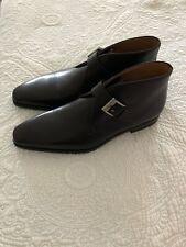 Magnanni Men's Black Leather Buckle-Strap Shoes Size10.5  NEW $365