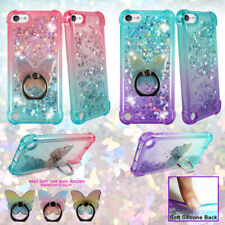 For Apple iPod 7th/6th/5th Gen Liquid Glitter Bling Bumper Case Cover Phone Ring