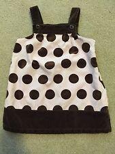 GYMBOREE Girls Size 3 Pink Brown Velour Polka Dot Dress