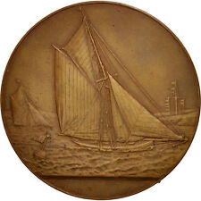 [#403038] France, Dieppe Sailing society, History, Medal, AU(55-58), Bronze