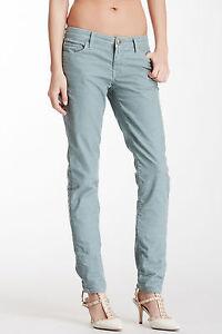 NWT 27 Stitch's Women's Fox Corduroy Skinny Blue Steel Pants #PWFOXC24 MSRP:$175