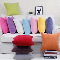 Corduroy Pillow Case Sofa Waist Throw Cushion Solid Corn Cover Home Decor