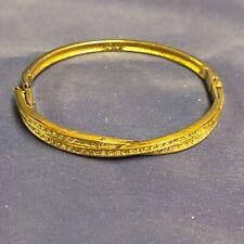 Swarovski Pave Twist Gold Bangle 959258 Retired Crystal Bracelet New In Box