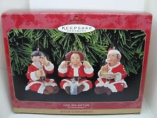 1999, LARRY, MOE & CURLY,  HALLMARK KEEPSAKE ORNAMENT