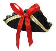 Womens Mini Pirate Buccaneer Tri-Corner Tricorner Hat Cap Hair Clip Halloween