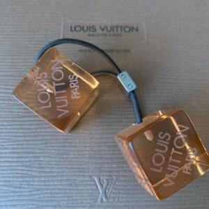 Auth LOUIS VUITTON Logos Cube Elastic Tie Hair Band Accessory Clear orange