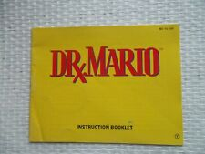 Notice Nintendo / Nes Drx Mario  ntsc USA original Booklet * authentic