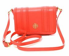 Tory Burch Landon Mini Sac bandoulière cuir Coquelicot corail orange petit
