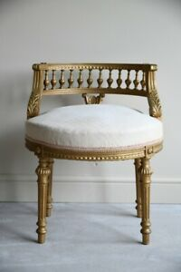 Vintage French Style Tub Stool Bedroom Dressing Table Chair