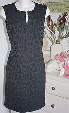 Noa Noa  Empire  Kleid Dress  Heavy Jaquard  ohne Arm India Ink Size: 38/S Neu