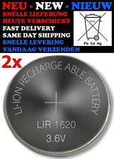 2x LIR1620 (3,6V 12mAh) Rechargeable Battery Knoopcel Batterij Pile Batteria NEW