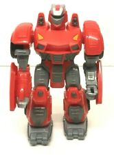 """HAP-P-KID TOY - Battery Operated Red Toy Robot 7"""" - *Walks Moves Arms Lights Up"""