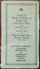 Guide to Marks of Origin on British and Irish Silver Plate from Mid 16th Century