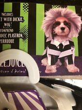 Beetlejuice Dog Pet Costume Funny Rubies Pet Shop  Outfit Halloween NEW XL