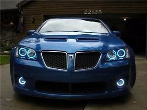 White Halo Fog Lamps Driving Lights Kit for 2008 2009 Pontiac G8