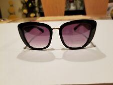 843d0e5389 Elie Tahari TH706 Black Sunglasses Plastic Cat Eye with Metal Trim Eyewear  NWT