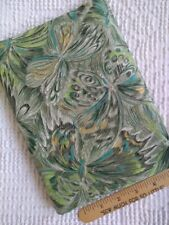 "Vintage Green Novelty Firefly Butterfly Moth Fabric, Almost 3 yards x 36"" WOF"