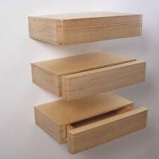 mensola con cassetto in legno