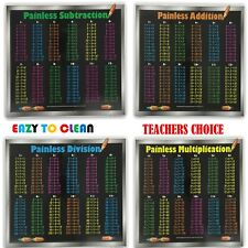 Painless Learning Educational Placemats Subtraction Addition Division Multiplica
