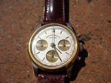 Orologio cronografo 3 contatori Eberhard acciaio ed oro manuale quasi NOS