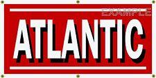 ATLANTIC GAS STATION VINTAGE SIGN OLD SCHOOL REMAKE BANNER SHOP GARAGE ART 2 X 4